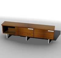 low-poly sideboard 3d model