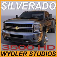 silverado 3500 crew cab 3d model