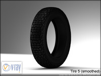 tire wheels 5 3d model