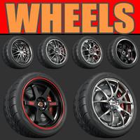 pack wheel 3d model