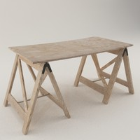 workshop table 3d model