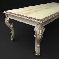 qualitative baroque style table 3d model