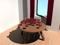 table luxurious 3d model