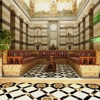 interior arab house 3d model