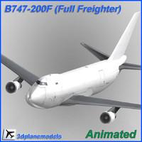 B747-200F Generic white