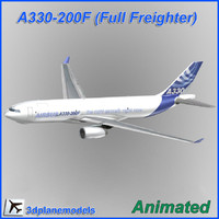 airbus aircraft landing 3d model