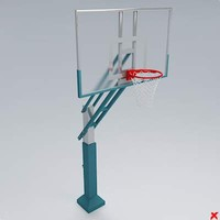 basketball rim ball 3d model