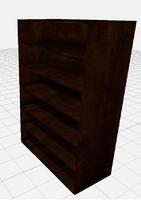 bookshelve books 3d model