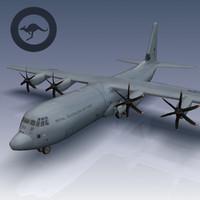 hercules c-130j c-130 3d model