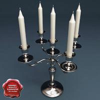 candlestick v3 3d model