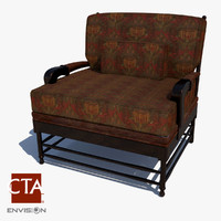 victorian lounge chair 3d model