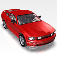 mustang car 3d model