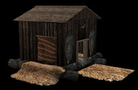 hunter cabin 3d model