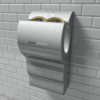 dyson airblade dryer 3d model