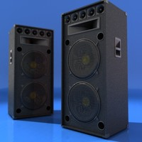 outdoor speakers 3d model