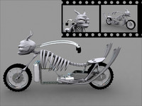 monster bike 3d model