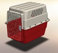 pet kennel 3d model