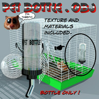 water bottle pet 3d model