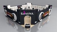 sarmina fair stand 3d model