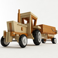 toy tractor trailer 3d model