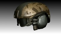 accurate ballistic helmet military 3d model