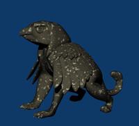 griffin statue 3d model