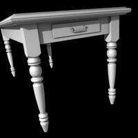 country style table 3d model