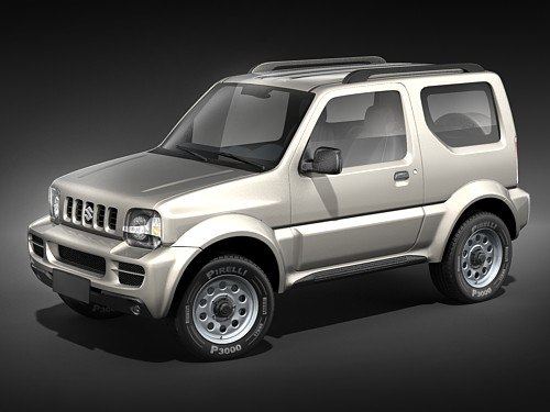 suzuki jimny jeep 3d model. Black Bedroom Furniture Sets. Home Design Ideas