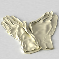 cloth gloves 3d model