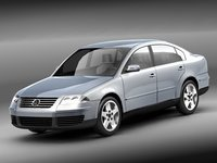 passat volkswagen sedan 3d model