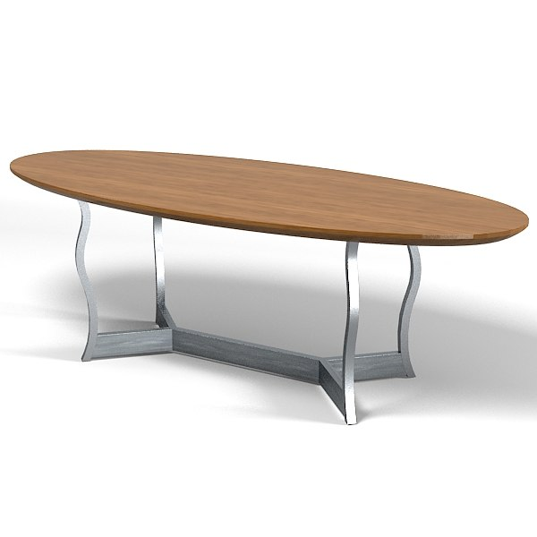 Promemoria Erasmo Dining Table Oval Modern