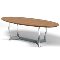 promemoria erasmo dining table oval modern contemporary