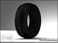 tire wheels 26 3d model