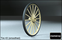 tire wheels 43 3d model