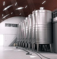 steel tank wine winery 3d model