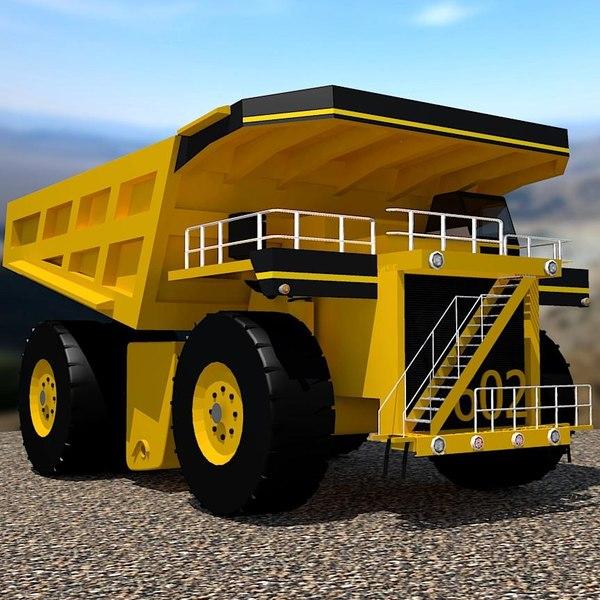 3d model realistic dumper truck