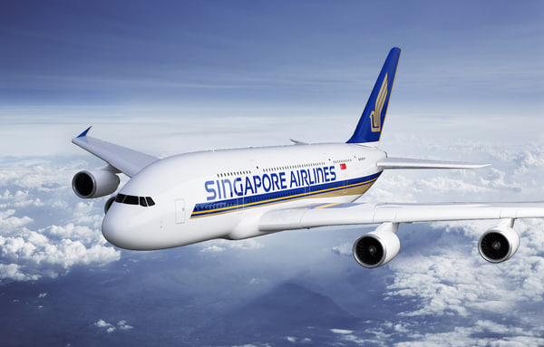 3d model airbus a380 singapore airlines