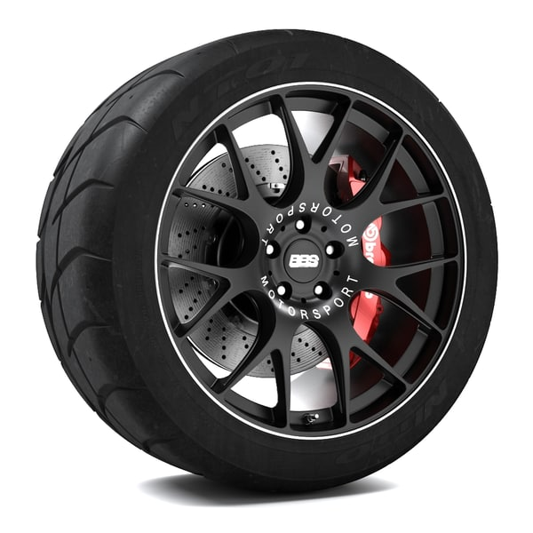 3d model bbs ch-r wheel