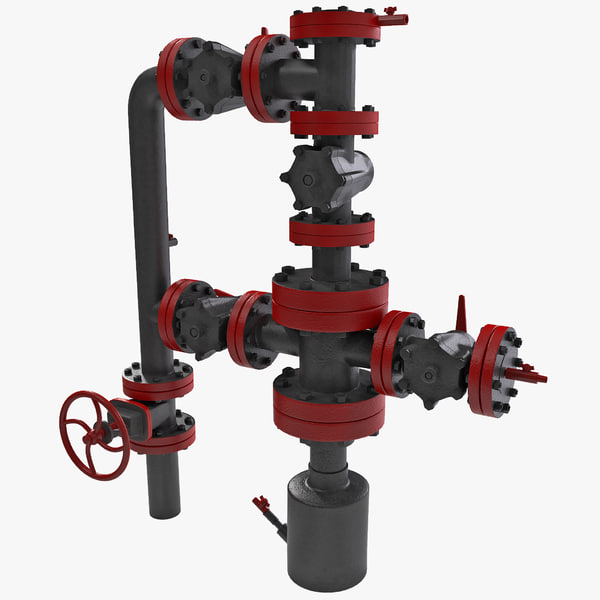 Oil Wellhead with Valve