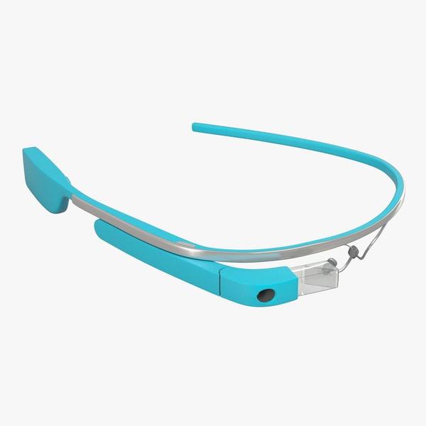 google glass 3d obj