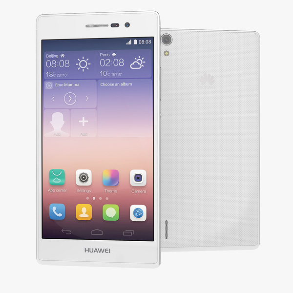 huawei ascend p7 smartphone 3d model