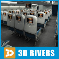 Economy class interior by 3DRivers