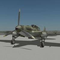 3d il-2 russian air-fighter