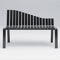 designer bench motion 3d model