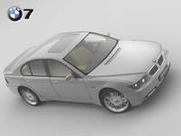 bmw 7 2003 3d model