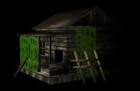 old shack 3d model