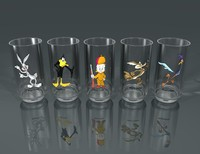 looney character glasses 3d model