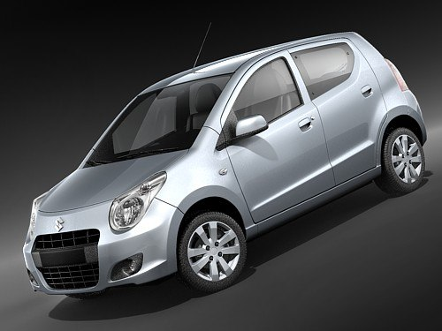suzuki alto 2009 car 3d model. Black Bedroom Furniture Sets. Home Design Ideas