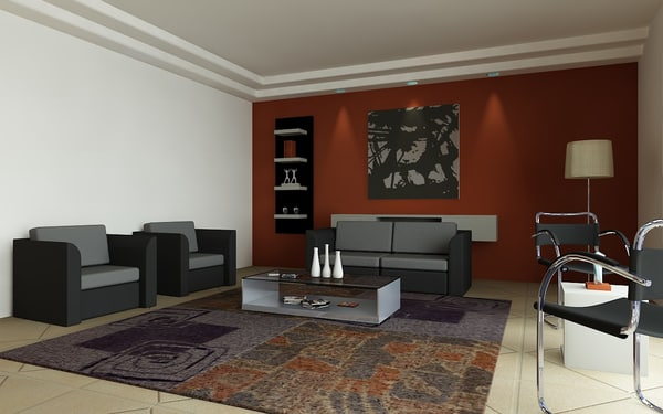 lightwave kray scene - Kray Living room scene 01... by synergys