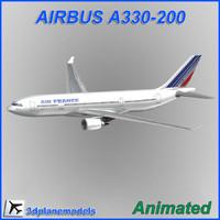 airbus a330-200 3d model